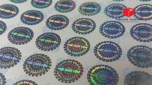 In tem bảo hành 7 màu